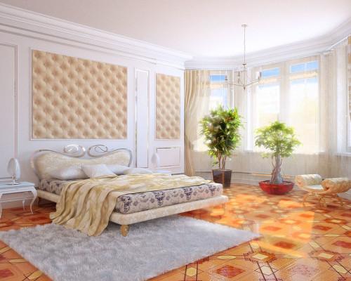 Дизайн эркера в спальне