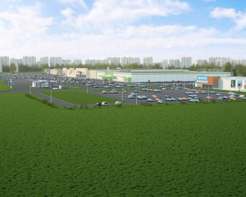 3d панорама торгового центра